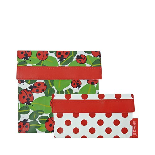 Sachi Lunch Pockets Set 2pc Lady Bug