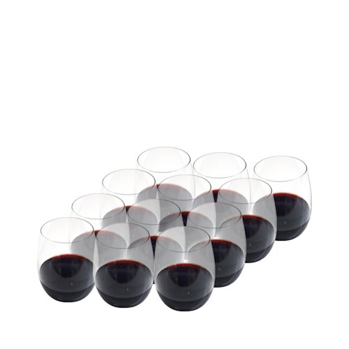 Salt & Pepper Borello Stemless Wine Glasses Set of 12
