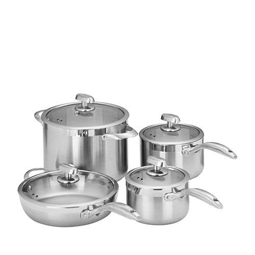 Scanpan Clad 5 4pc Set w/ Stockpot, Saute Pan & 2 Saucepans