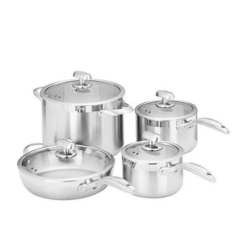 Scanpan Clad 5 4pc Set w/ Stockpot Saute Pan & 2 Saucepans