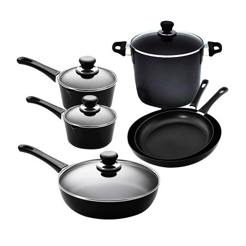 Scanpan Classic 6pc Set w/ 2 Saucepans, 2 Frypans, Stock Pot & Saute Pan