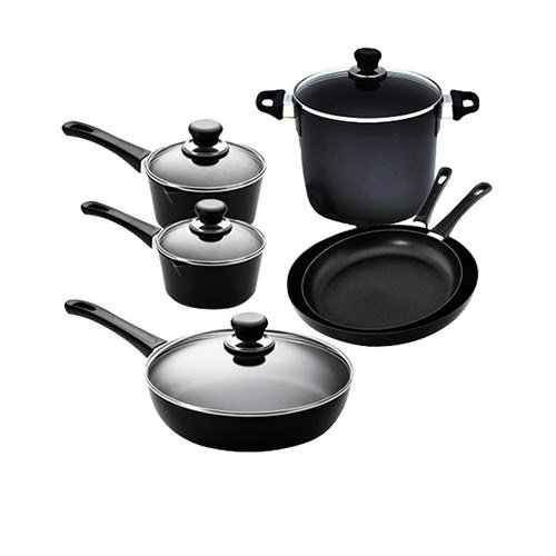 Scanpan Classic 6pc Set w/ 2 Saucepans, 2 Frypans, Stock Pot & Saute Pan