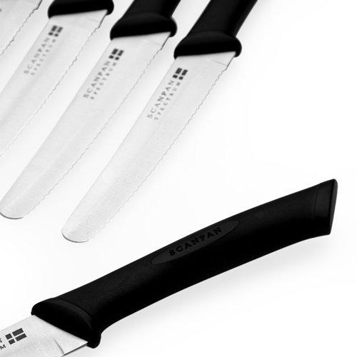 Scanpan Spectrum 6pc Steak Knife Set Black