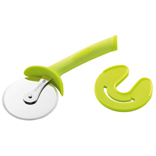 Scanpan Spectrum Soft Touch Pizza Cutter with Sheath Green