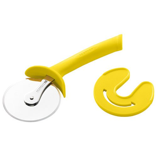 Scanpan Spectrum Soft Touch Pizza Cutter with Sheath Yellow