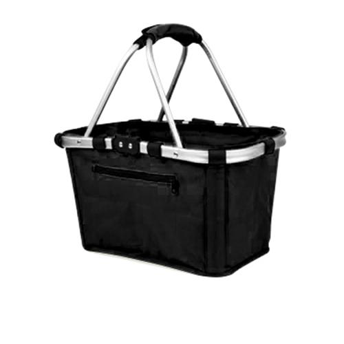 Sachi Carry Basket Double Handle Black
