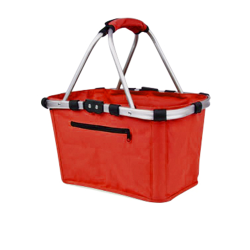 Shop & Go Carry Basket Double Handle Red