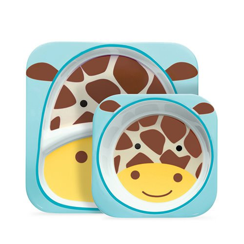Skip Hop Zoo Melamine Set - Includes Plate & Bowl Giraffe