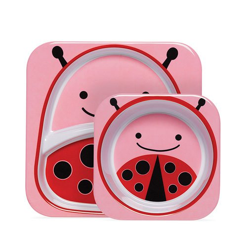 Skip Hop Zoo Melamine Set - Includes Plate & Bowl Ladybug