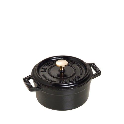 Staub Round Cocotte 18cm Black
