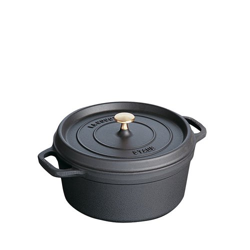 Staub Round Cocotte 24cm Black