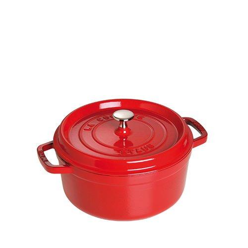Staub Round Cocotte 24cm Cherry Red