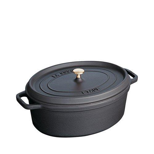 Staub Oval Cocotte 33cm Black