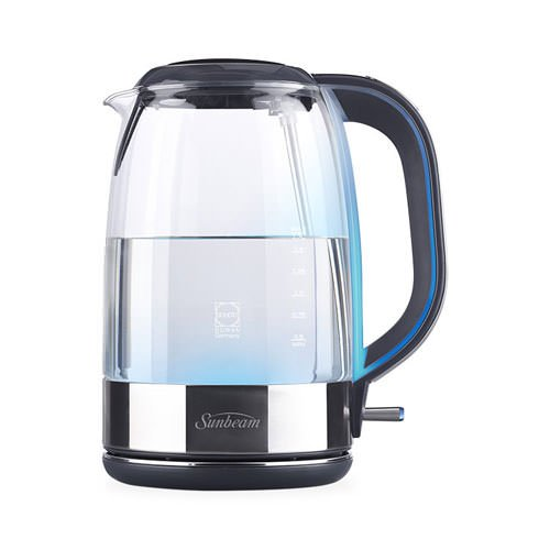 Sunbeam Cool Blue Glass Kettle