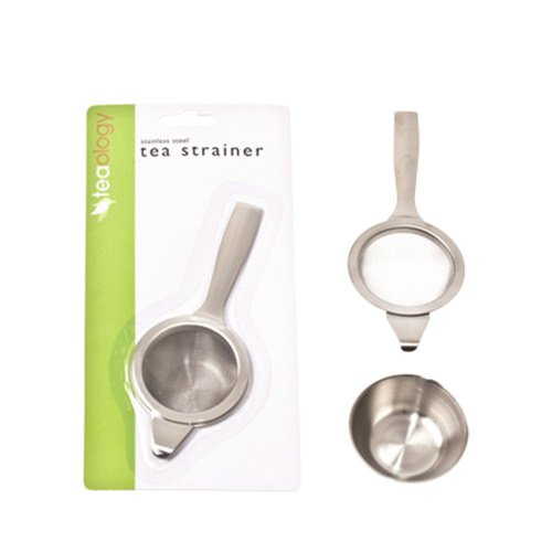 Teaology Long Handle Tea Strainer with Bowl