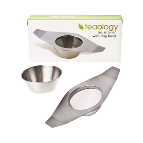 Teaology Tea Strainer with Drip Bowl