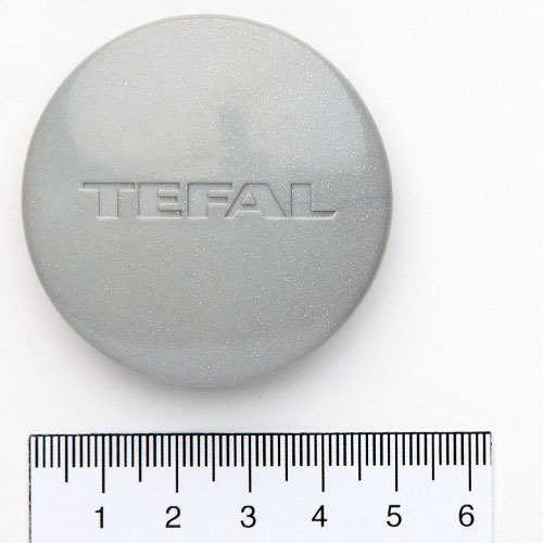 Tefal Clipso Control Hubcap Grey, Round With Logo