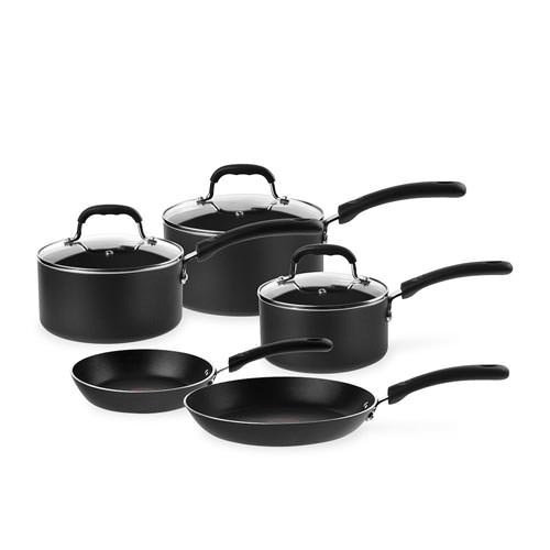 new tefal non stick induction 5pc cookware set rrp 400 ebay. Black Bedroom Furniture Sets. Home Design Ideas