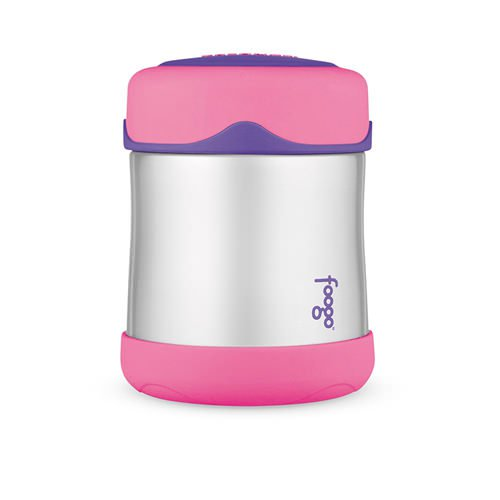 Thermos Foogo Stainless Steel Vacuum Insulated Food Jar Pink 290ml