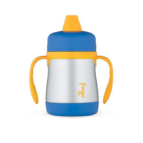 Thermos Foogo Stainless Steel Vacuum Insulated Sippy Cup Blue