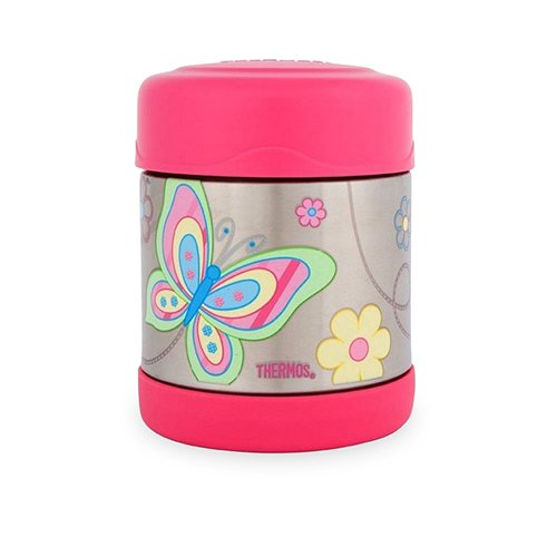Thermos Funtainer Stainless Steel Vacuum Insulated Food Jar Butterfly 290ml