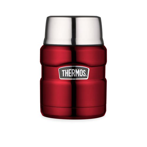 Thermos Stainless King Vacuum Insulated Food Jar Red 470ml