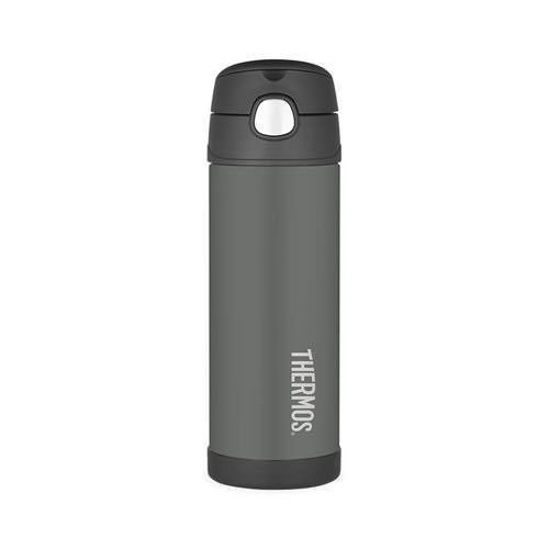 Thermos Stainless Steel Vacuum Insulated Drink Bottle 470ml Charcoal