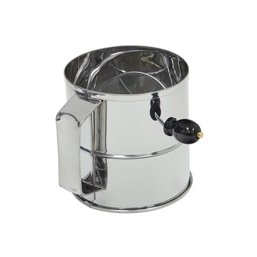 Chef Inox Flour Sifter S/S w/ Crank Handle 8-Cup