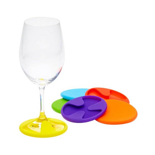 Vin Bouquet Silicone Coaster and Glass Markers Set of 6