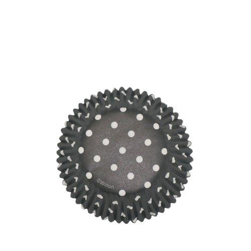 Wilton Polka Dot Baking Cups Black 75pc