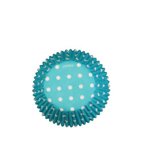 Wilton Polka Dot Baking Cups Blue 75pc
