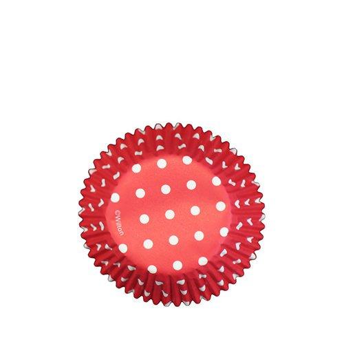 Wilton Polka Dot Baking Cups Red 75pc