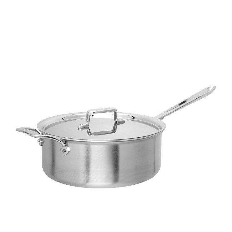 All-Clad Stainless Steel Deep Saucepan w/ Lid 5.6L