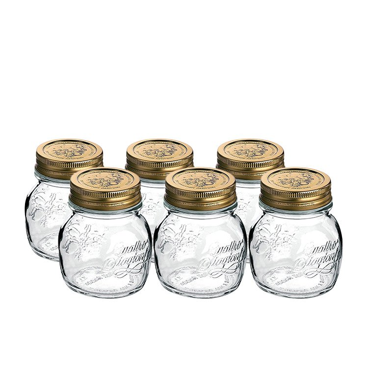 Bormioli Rocco Quattro Stagioni Storage Jars 250ml 6pc Set
