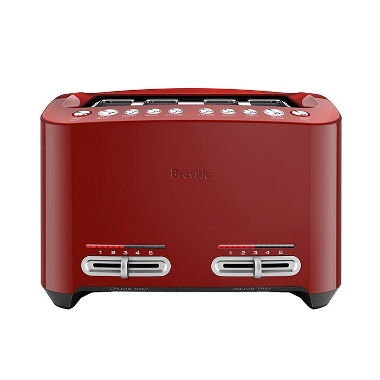 Breville the Smart Toaster 4 Slice Cranberry with Fruit Bread Setting