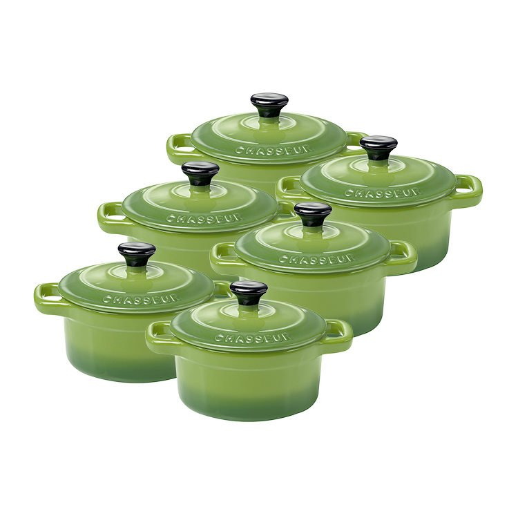 Chasseur La Cuisson Mini Cocotte 10cm Set of 6 Apple