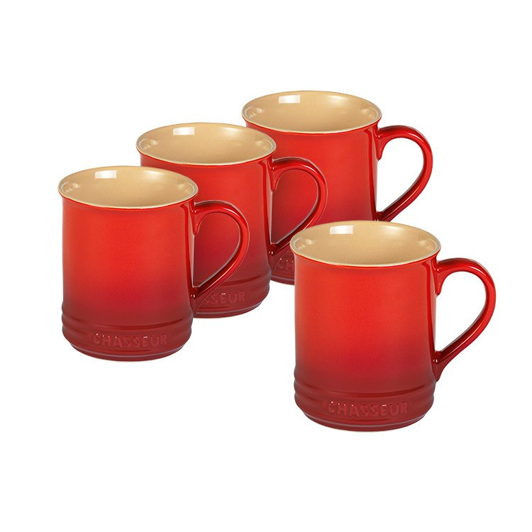 Chasseur La Cuisson Mug 350ml Set of 4 Inferno Red