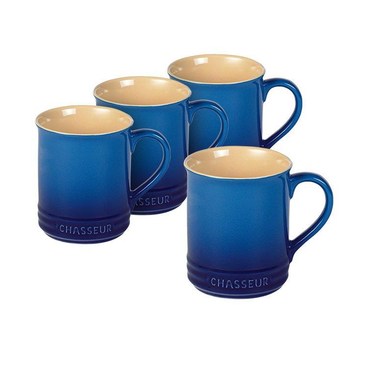 Chasseur La Cuisson Mug 350ml Set of 4 Sky Blue