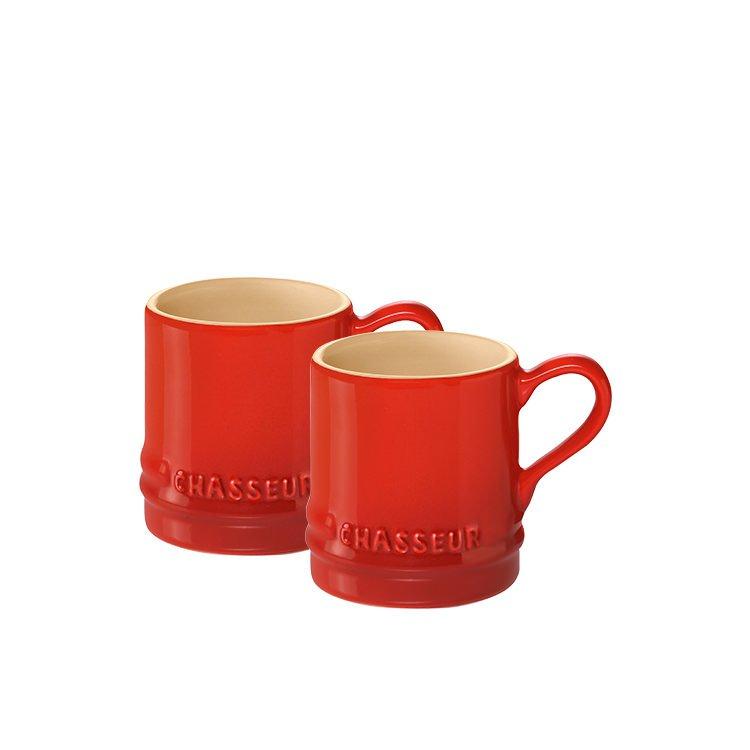33594aa814c Chasseur La Cuisson Petit Espresso Cups Set of 2 Red