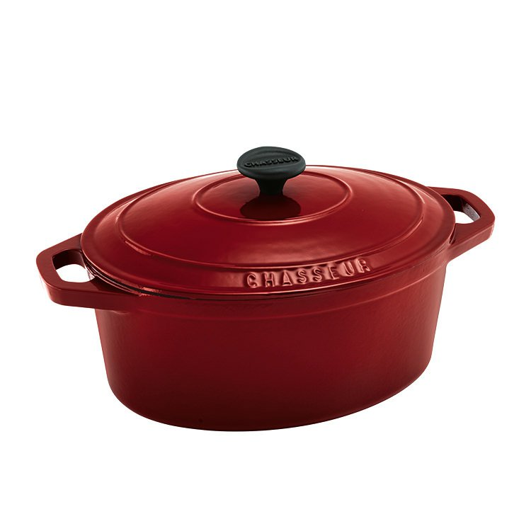 Chasseur Oval French Oven 27cm - 3.6L Federation Red