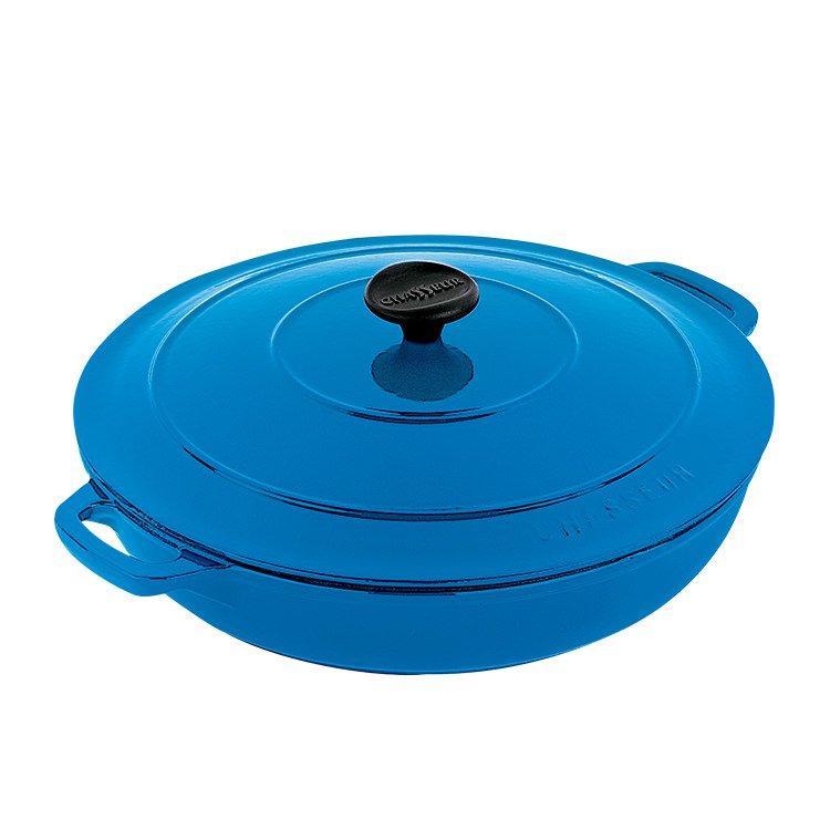 Chasseur Round Casserole w/ Lid 30cm - 2.5L Sky Blue