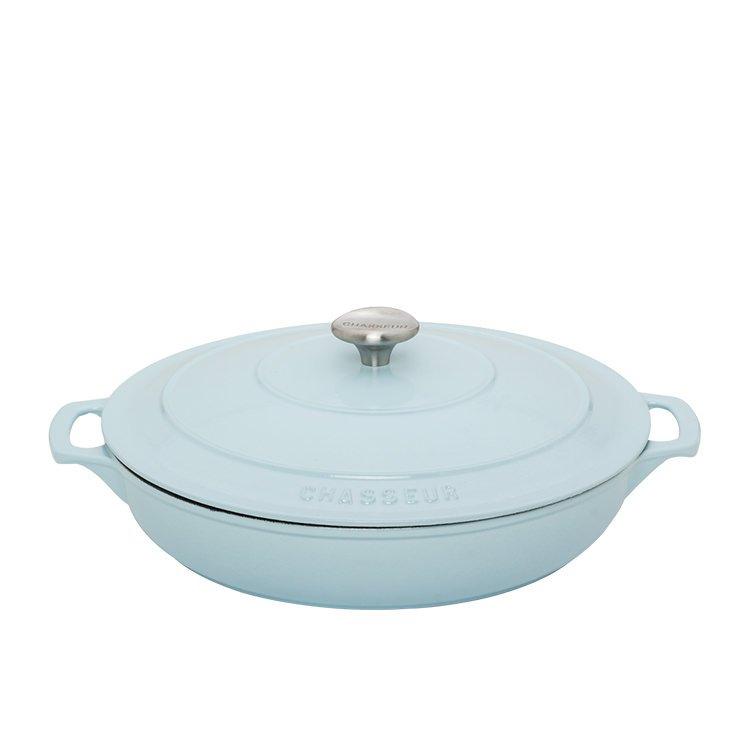 Chasseur Round Casserole w/ Lid 30cm - 2.5L Duck Egg Blue
