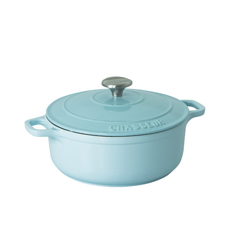 Chasseur Round French Oven 24cm - 3.8L Duck Egg Blue