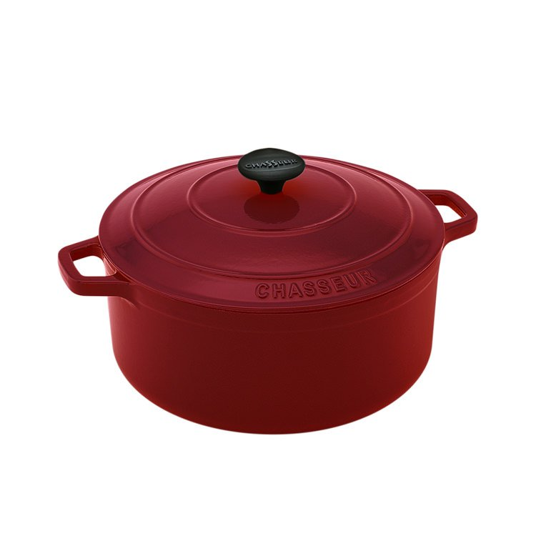 Chasseur Round French Oven 24cm - 3.8L Federation Red