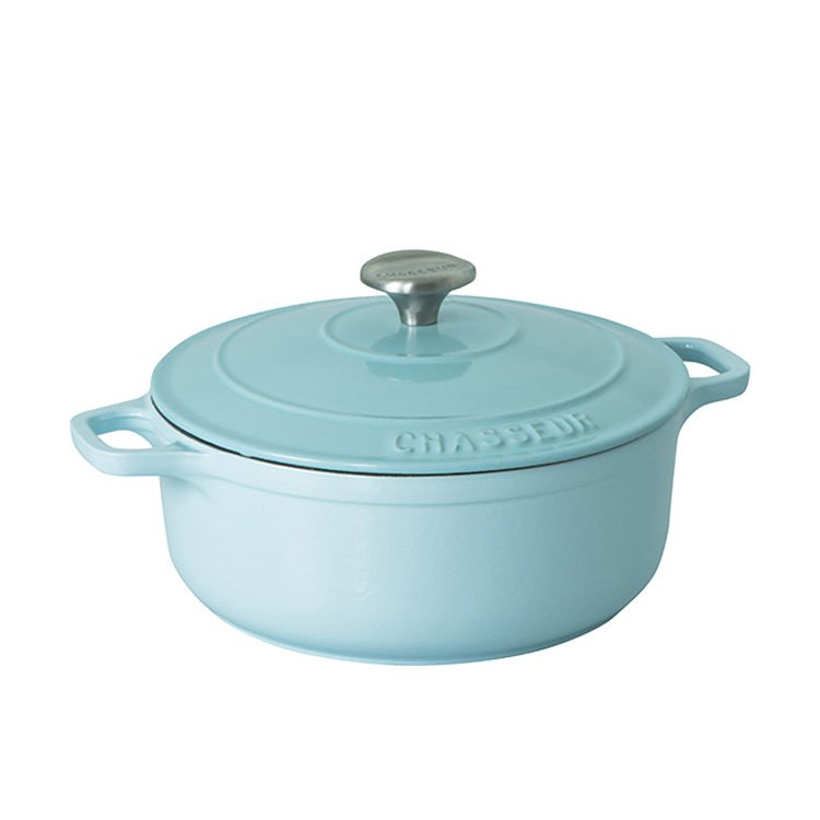 Chasseur Round French Oven 26cm - 5.2L Duck Egg Blue