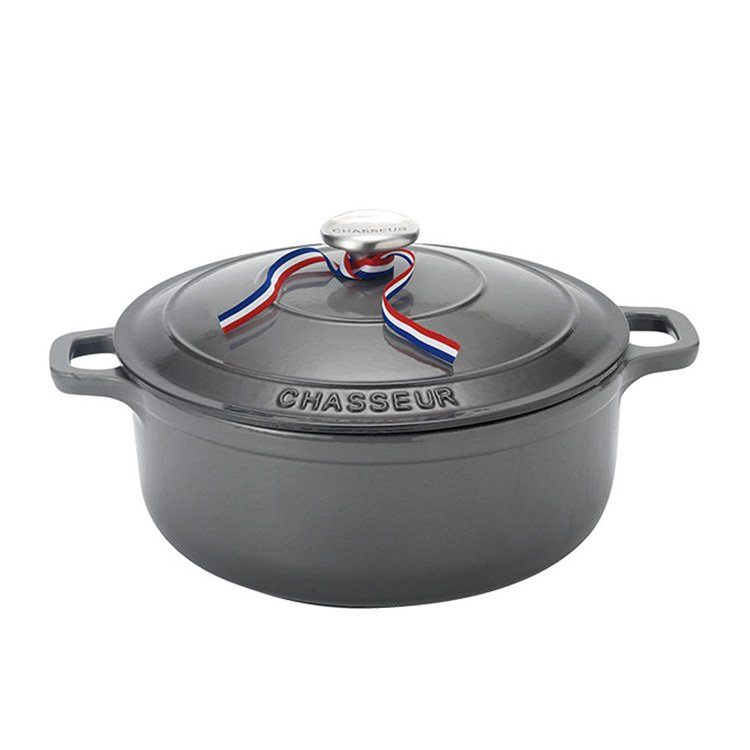 Chasseur Round French Oven 28cm - 6.3L Caviar