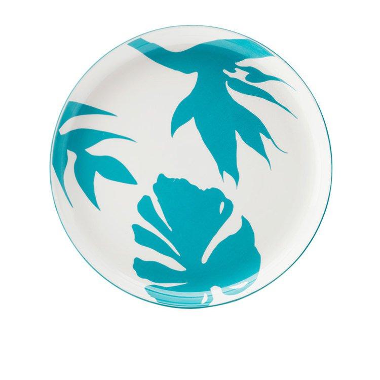 Christopher Vine Paradiso Plate 25cm Silhouette Blue