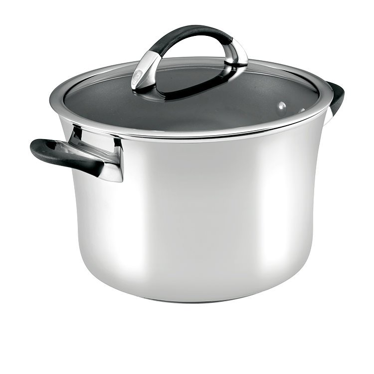 Circulon Symmetry Stainless Steel Stockpot 7.8L