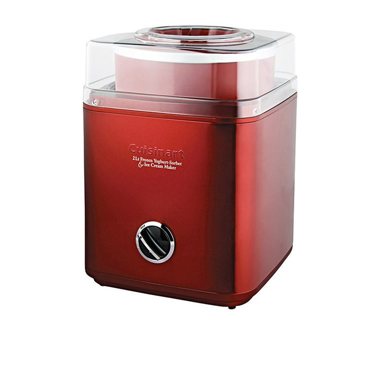 Cuisinart Ice Cream & Frozen Yoghurt Maker 2L Metallic Red