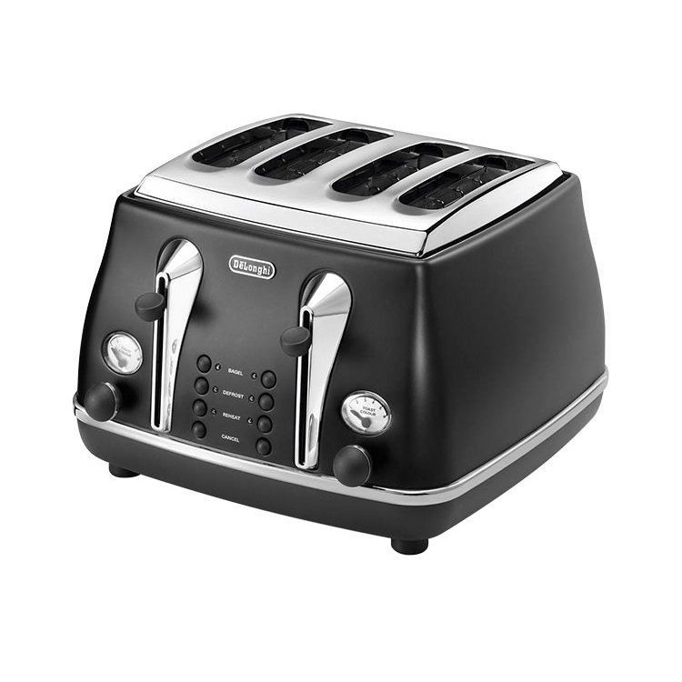 DeLonghi Icona 4 Slice Toaster Black